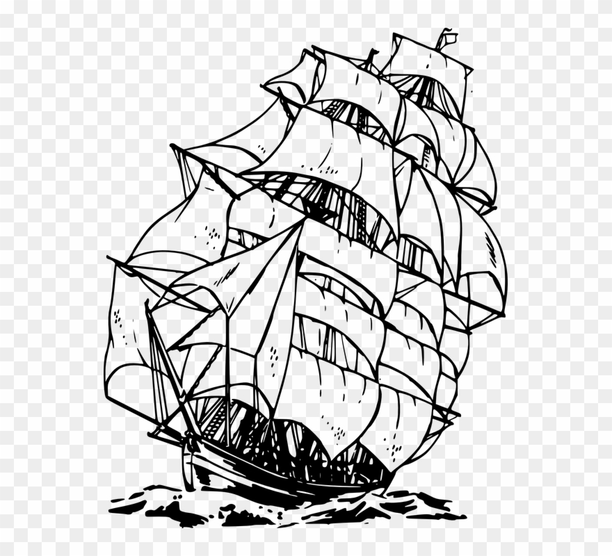 Sailing Ship Ocean Sea Water Voyage Cruise