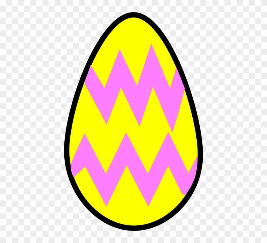 Easter egg cartoon. Eggs clipart yellow for