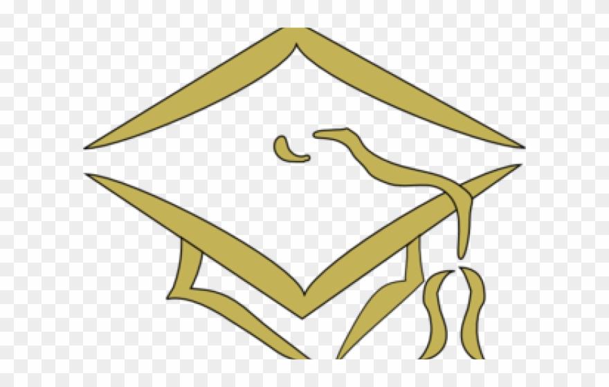 Graduation gold. Hat png clipart pinclipart