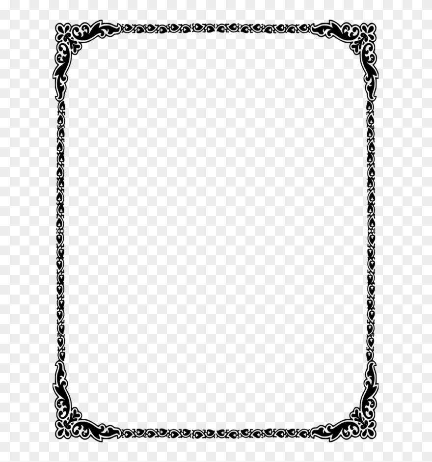 Dorable Wedding Invitation Borders Clip Art Motif
