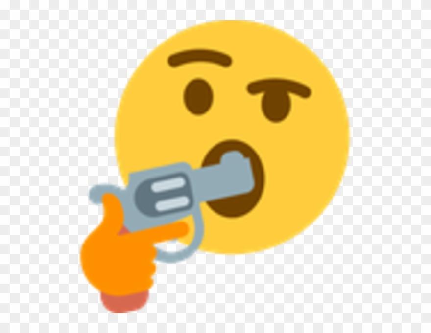 Thinking Emoji Gun In Mouth Clipart (#1169495) - PinClipart
