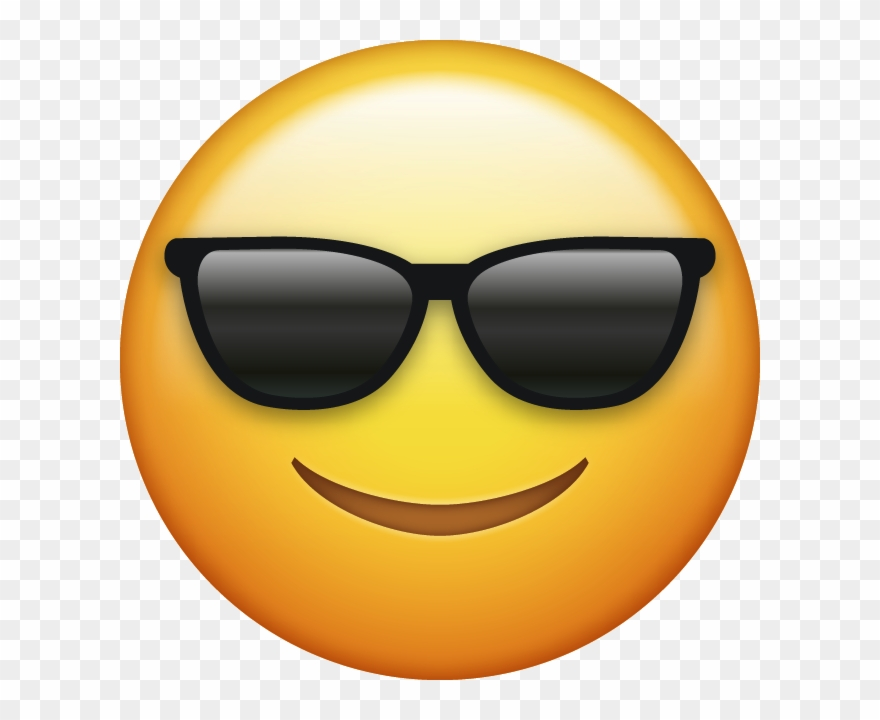 Download Sunglasses Cool Emoji Face [iphone Ios Emojis - Sunglasses Emoji Clipart