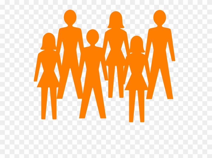 Person transparent background. Group of people clipart
