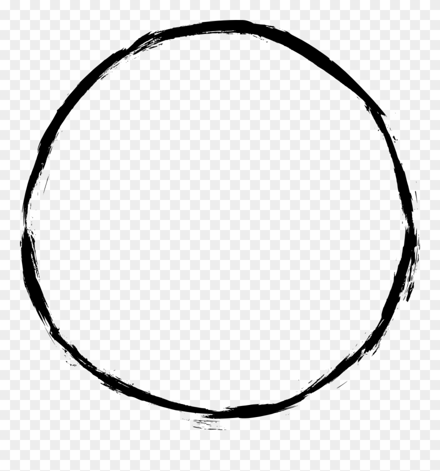 5 Clipart Circle - Thin Black Circle Outline - Png Download