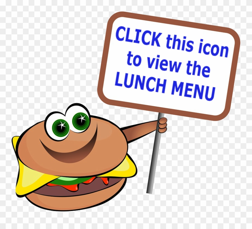 The School Lunch Has Two Or More Entrée Options For - Burger Clipart Page Borders - Png Download