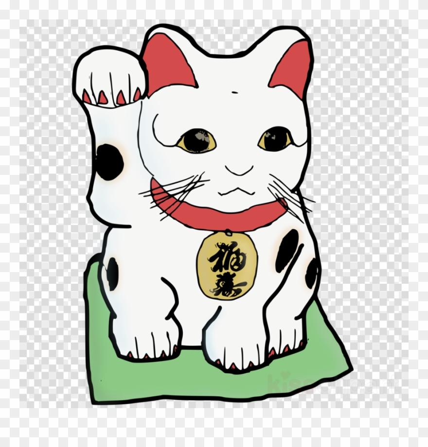 Maneki Neko Clipart Maneki-neko Luck Clip Art - Neko ... (880 x 920 Pixel)
