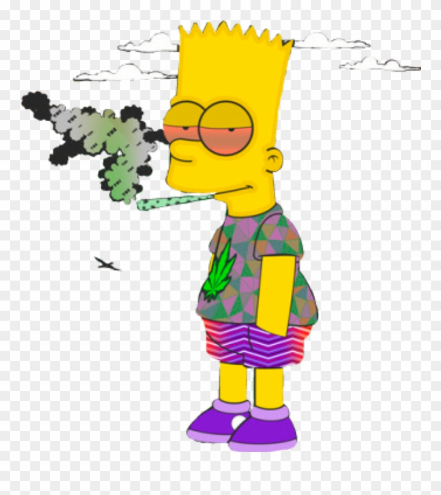 Memezasf bart supreme simpsons thesimpsons bartsimpson bart simpson smoking weed clipart