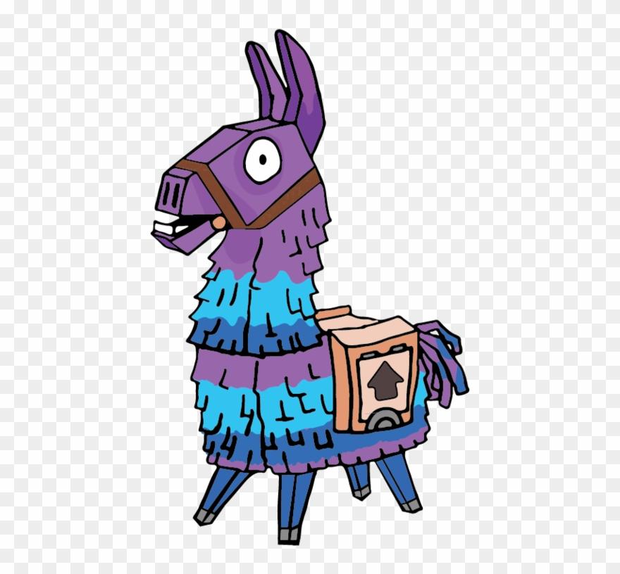 Llama Fortnite Svg, Silhouette Cameo Cricut Design - Dibujos De Fortnite De La Llama Clipart