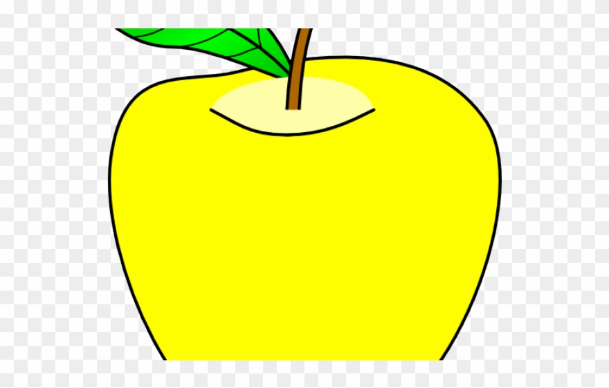 Apple yellow. Clipart png download pinclipart