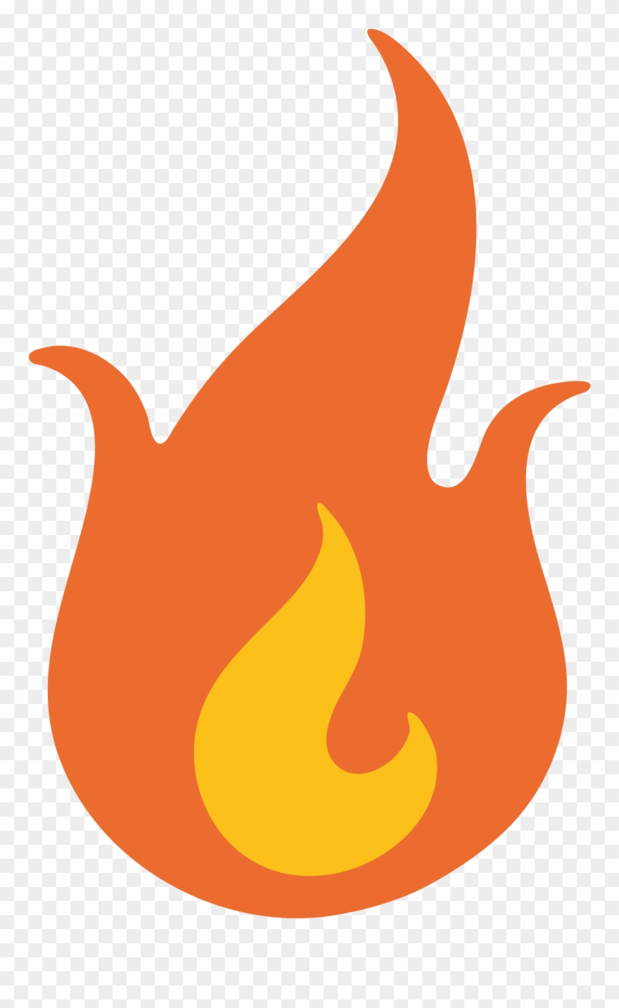 Fire emoji. Flame clipart transparent png