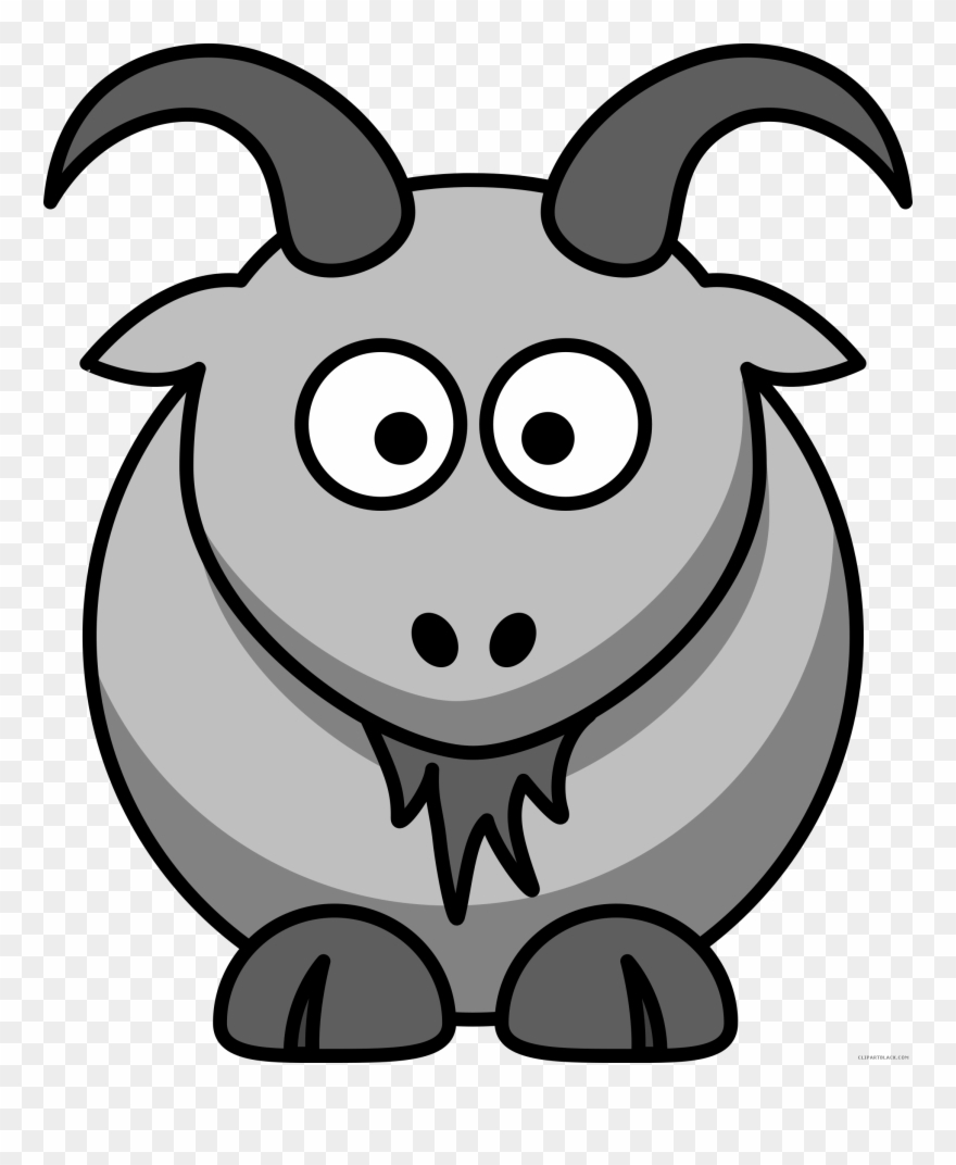 Goat Clipart Black And White Goat Clipart Gaot Goat Cartoon Animals Png Download 1183841 Pinclipart