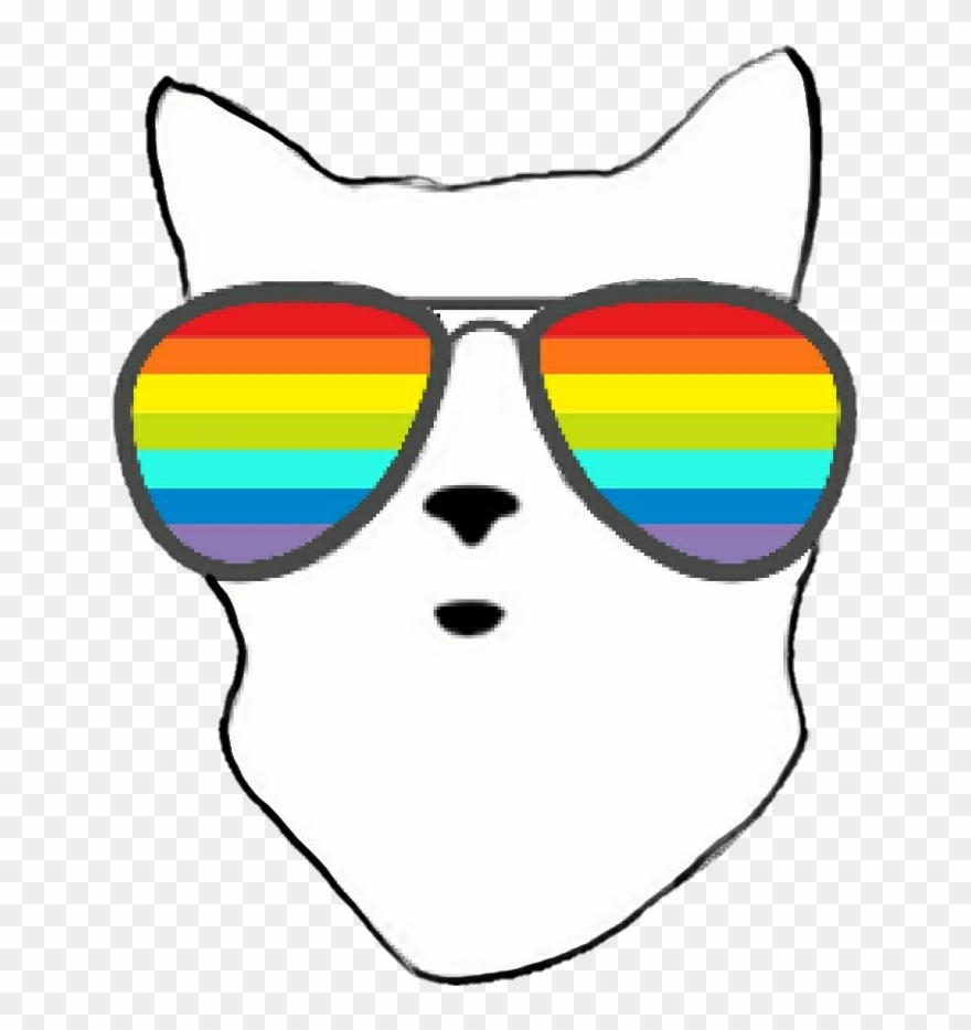Sunglasses rainbow. Clipart png download
