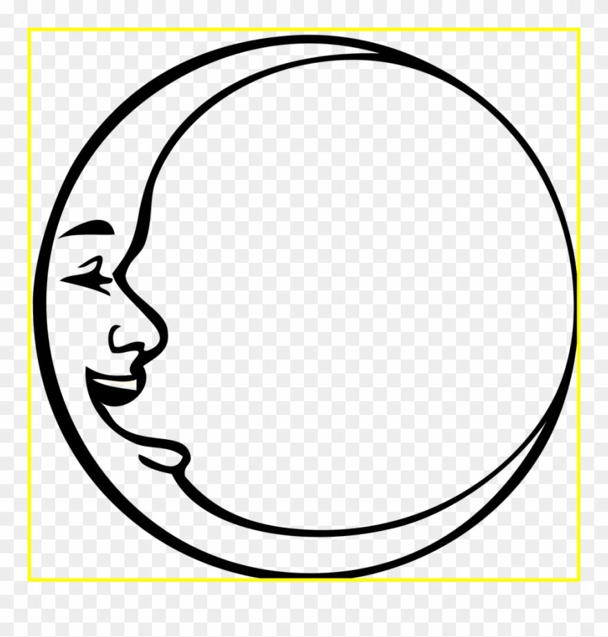 Best For U Triple Moon Symbol Outline - Crescent Moon Face