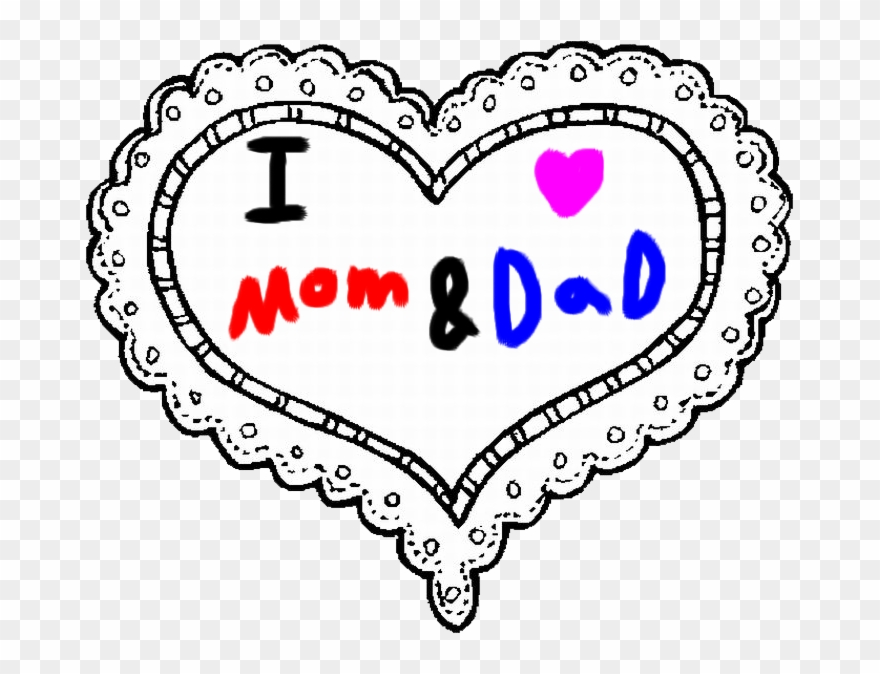 Mom And By Roxaspikachu Love My Mom And Dad Clipart 1190172 Pinclipart