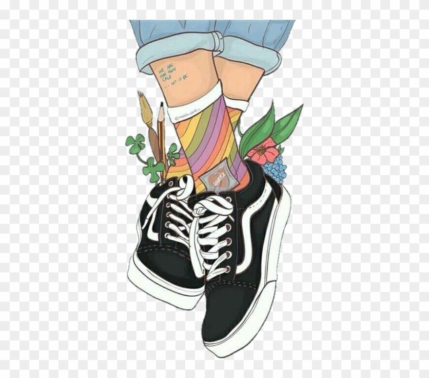 b88fbd4fe558a5 Shoes Vansshoes Vansoldskool Tumblr - Vans Art Clipart ( 1191421 ...