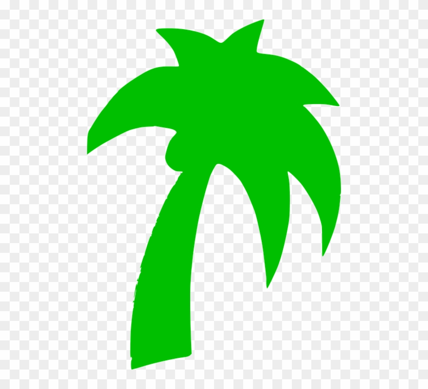 Palm tree green. Silhouette clipart pinclipart