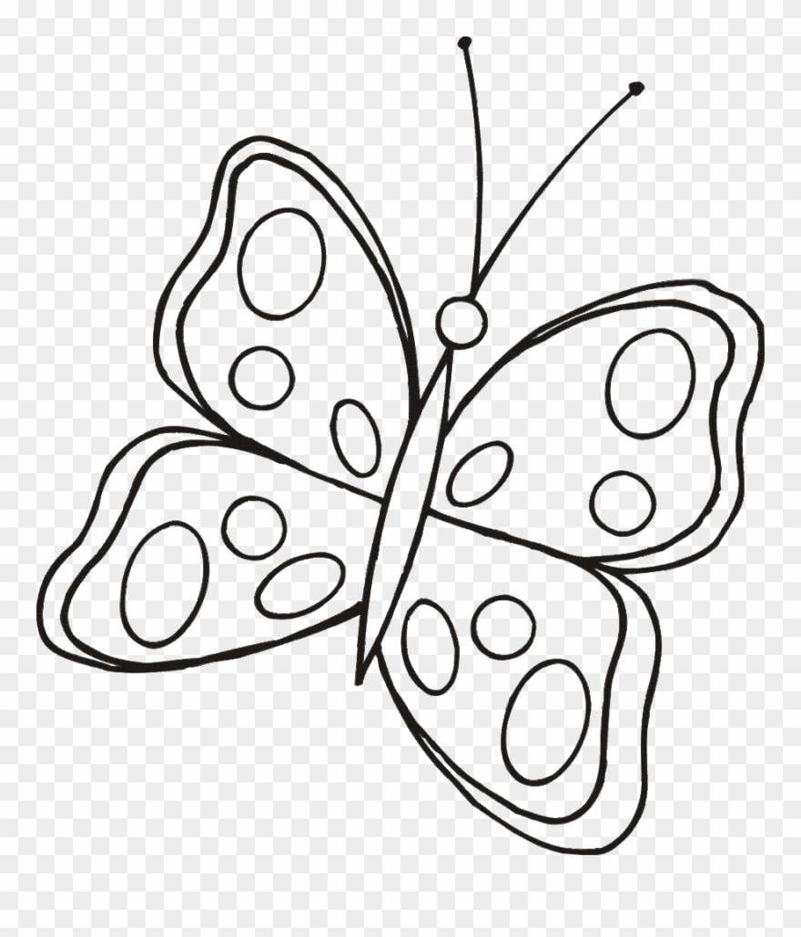 Cute butterfly line drawing clipart drawing butterfly cute butterfly line drawing png download