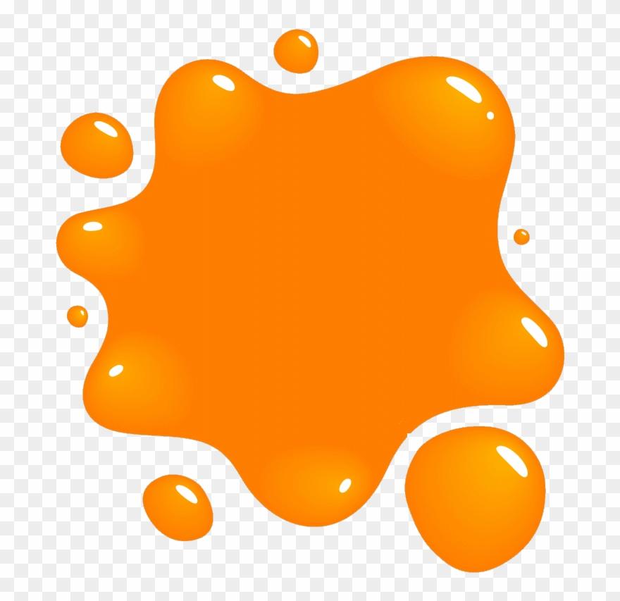 Paint splatter orange. Clipart splat png cliparts