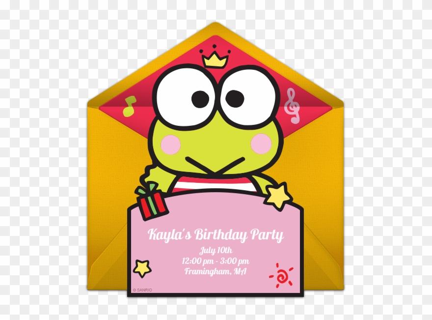Keroppi Online Invitation Birthday Invitation With Keroppi