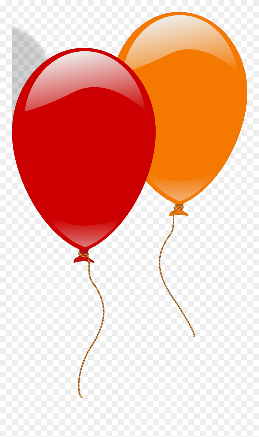 Balloons orange. Big image and red