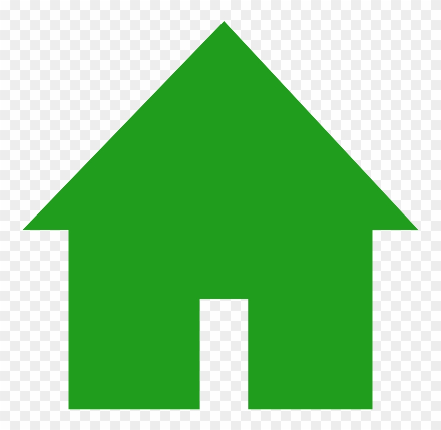 House green. Clipart home icon png