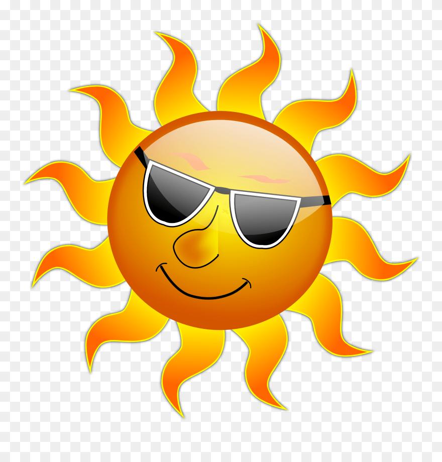 Summer sun. Clip art png download