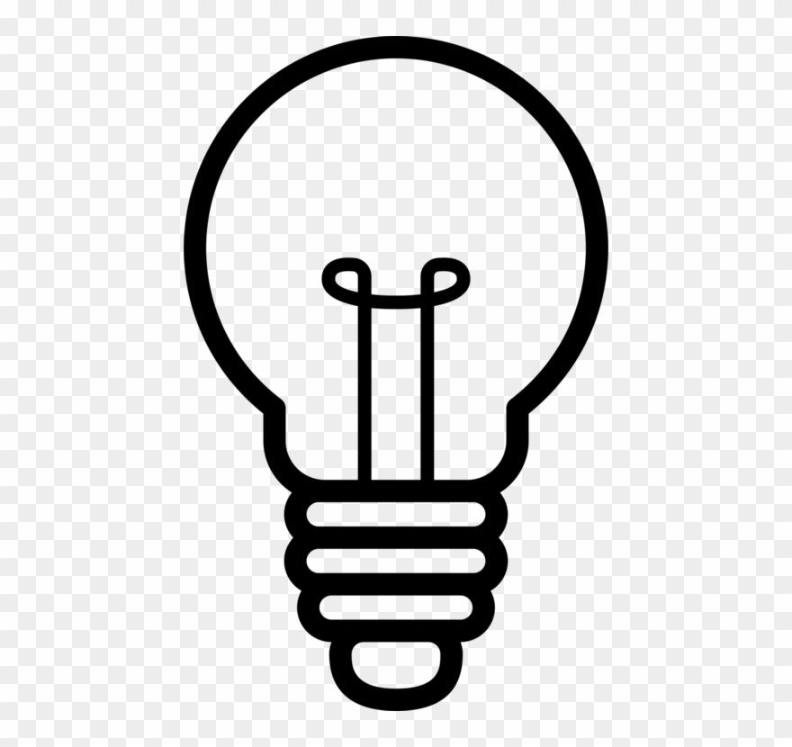 Light bulb silhouette. Idea creativity concept png