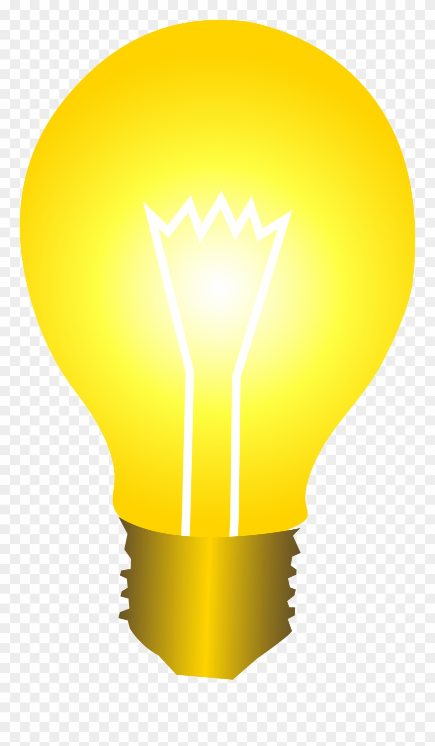 Bright Yellow Idea Light Bulb Free Clip Art - Light Bulb ...