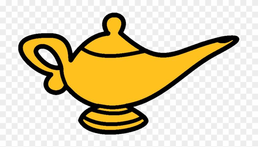 Oil Lamp Clipart Aladdin S Lamp Cartoon Genie Lamp Png