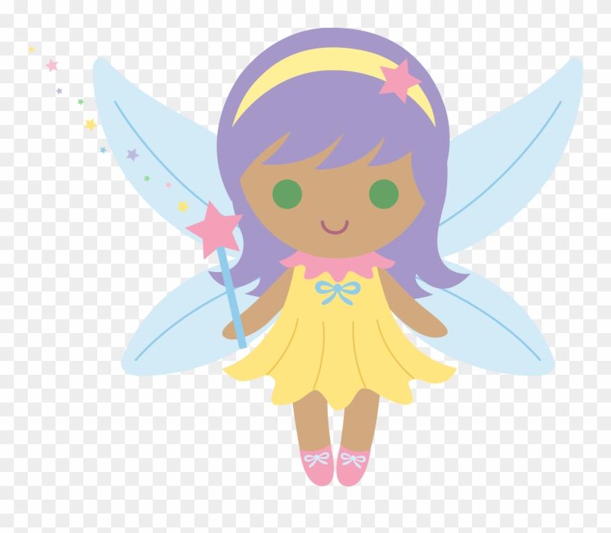 Fairy purple. Little with hair cartoon