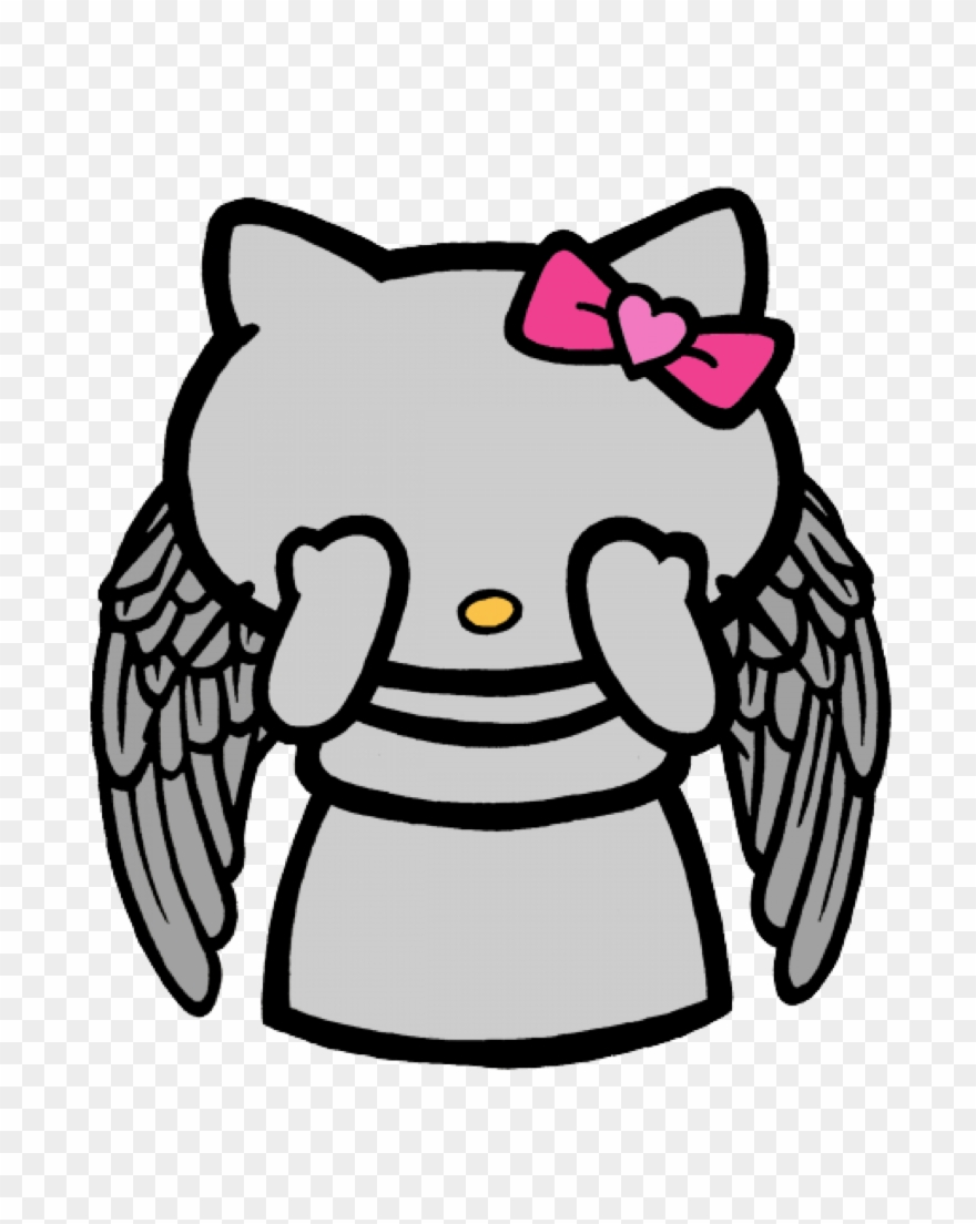 Hello kitty angel dr clipart hello kitty the doctor hello kitty weeping angel png