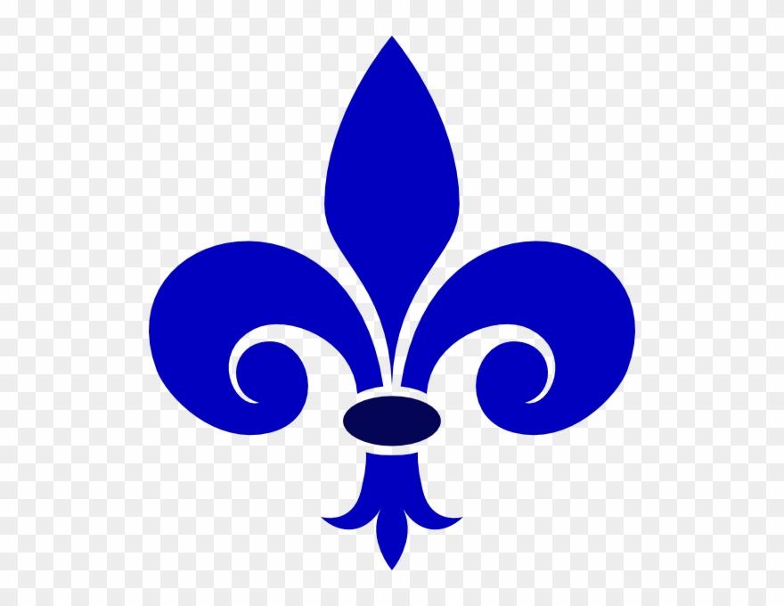 Fluer De Lis Royal Blue Clip Art At Clkercom Vector Flor De Liz