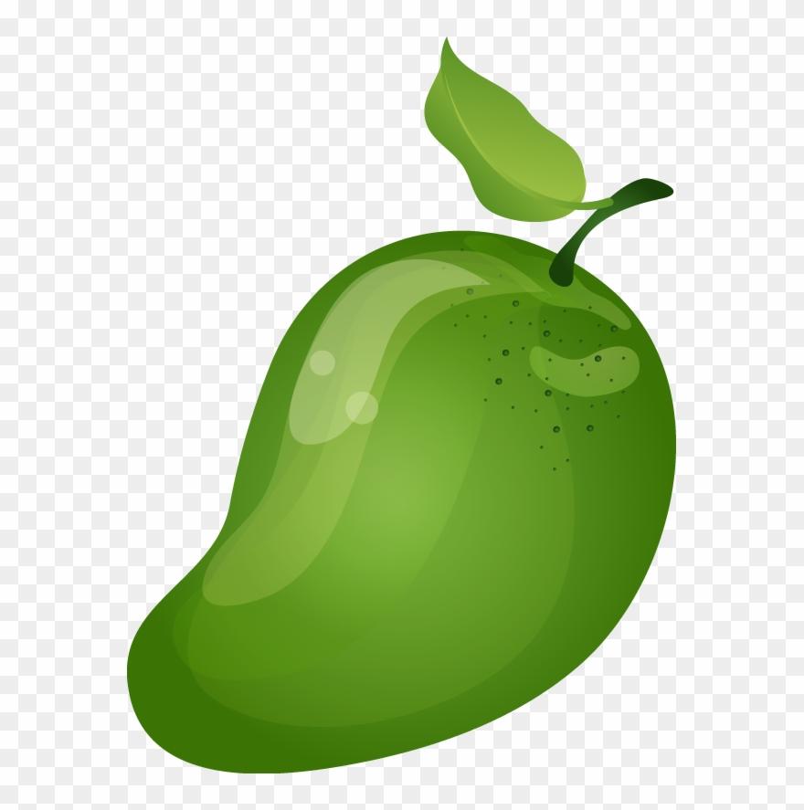 Green Mango Clipart - Mango Green Clip Art - Png Download ...