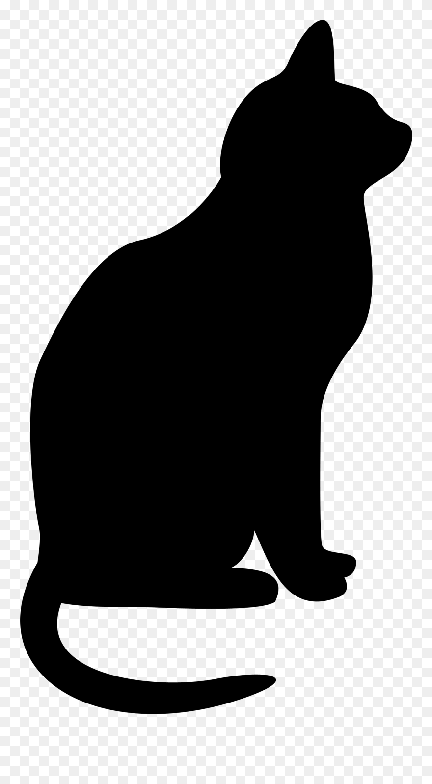 Cats Clipart Silhouette Clip Art Transparent Library Black Cat Silhouette Png Download 126888 Pinclipart