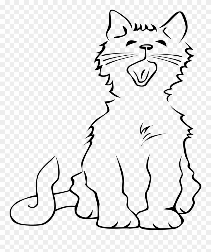 48 Best Cute Cat Clip Art Images Black And White Clip Cat Meowing Coloring Page Png Download 127122 Pinclipart,Patty Pan Squash