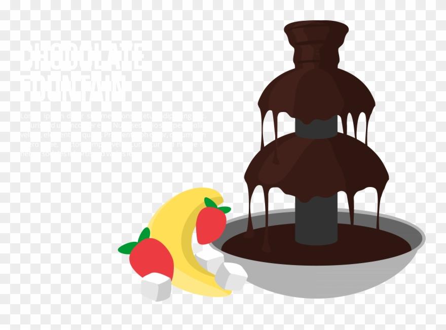 Graphic Chocolate Transparent Stream - Chocolate Fountain 3d
