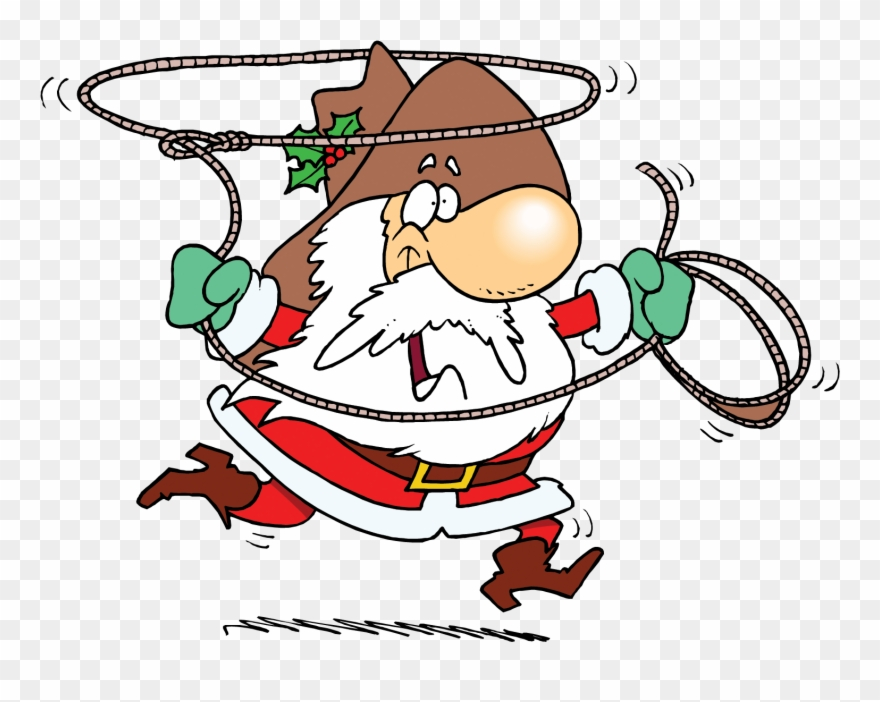 cb4013afbfa13 Hat Christmas Lasso Transprent - Cowboy Santa Claus Clipart - Png Download