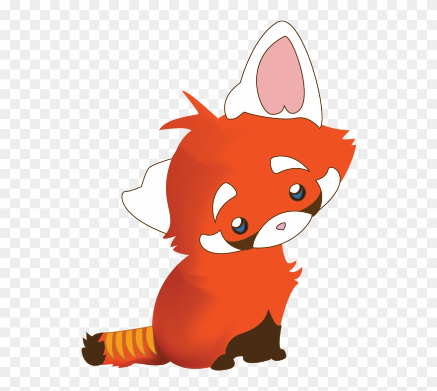 How To Draw A Chibi Panda Cute Baby Red Panda Drawing Clipart 1201241 Pinclipart