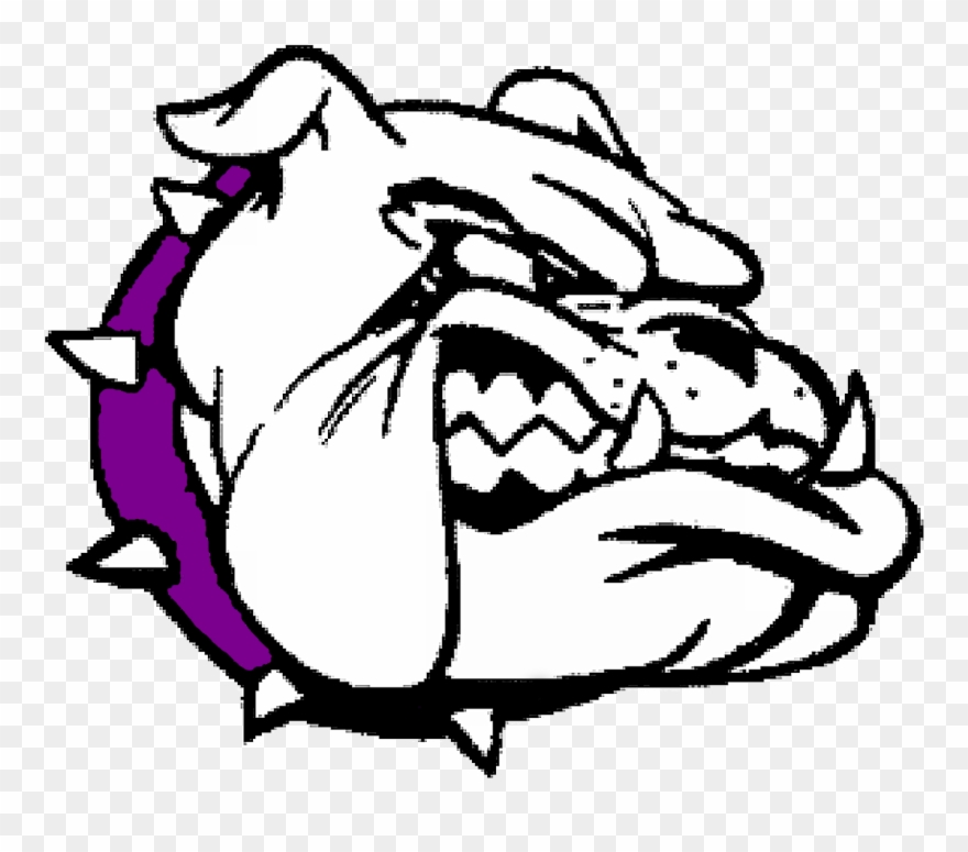 Bulldog Clipart Purple Transparent Background Bulldog Clip Art