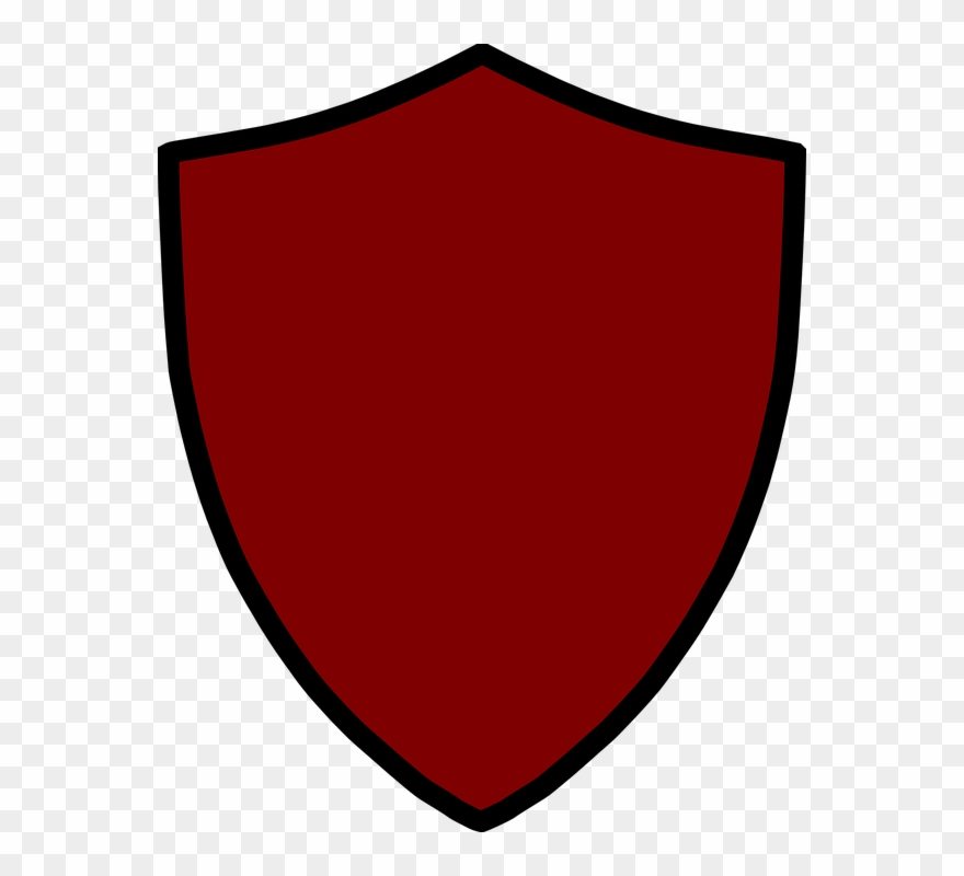 Shield red. Clipart public domain blank