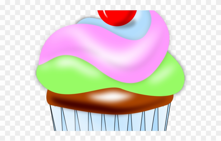 Cupcake Clipart Swirl Kleiner Kuchen Mit Kirsche Auf