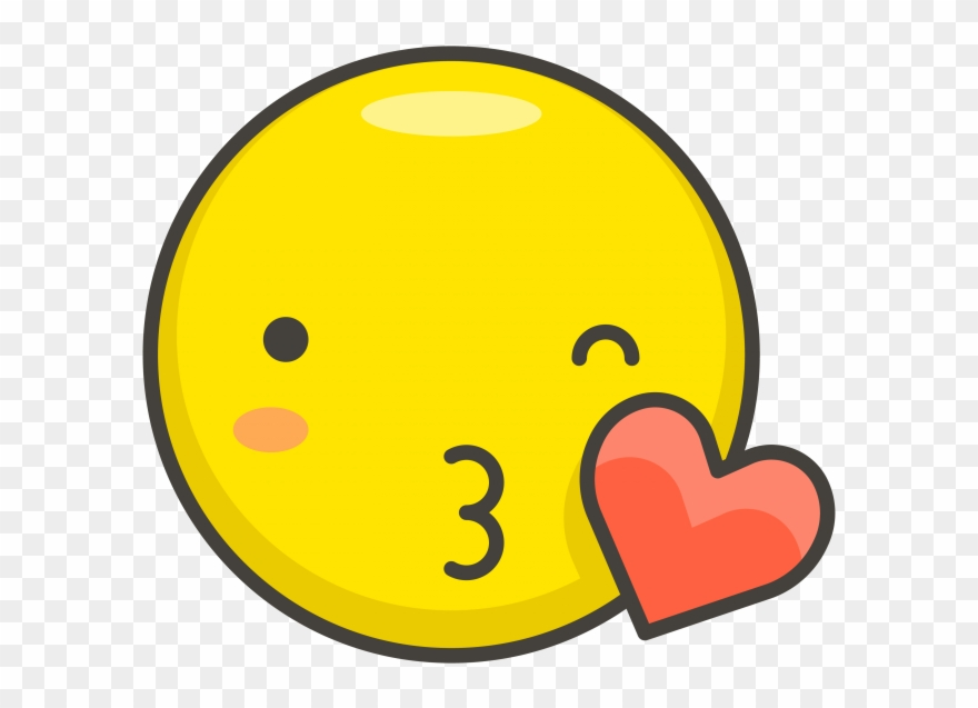 Face Blowing A Kiss Emoji Kiss Icon Clipart 1210933 Pinclipart