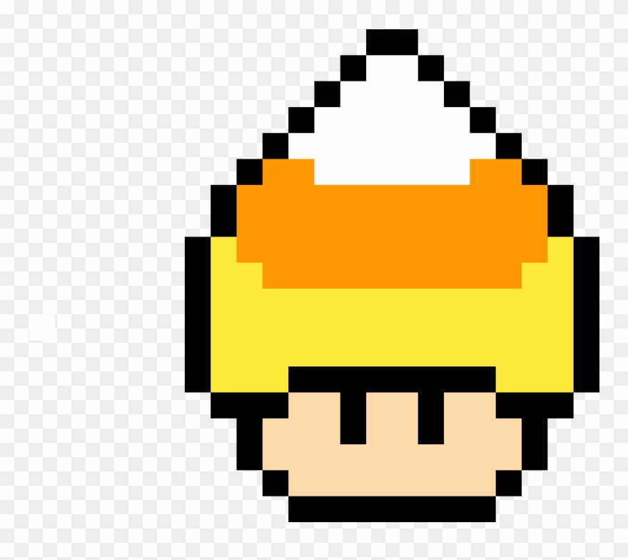 Candy Corn Mushroom Pixel Art Champignon Mario Clipart