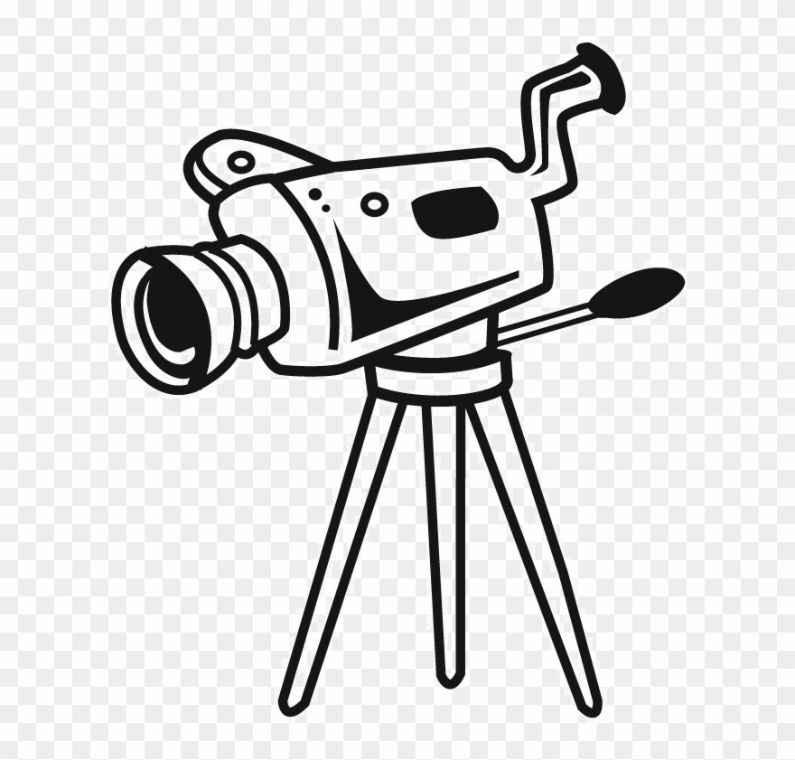 Photo Camera Clipart Jpeg Camera With Stand Drawing Png