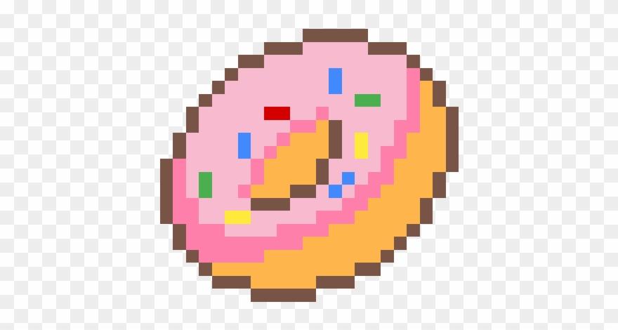 Donut Pixel Art Cute Pixel Art Easy Clipart 1217110