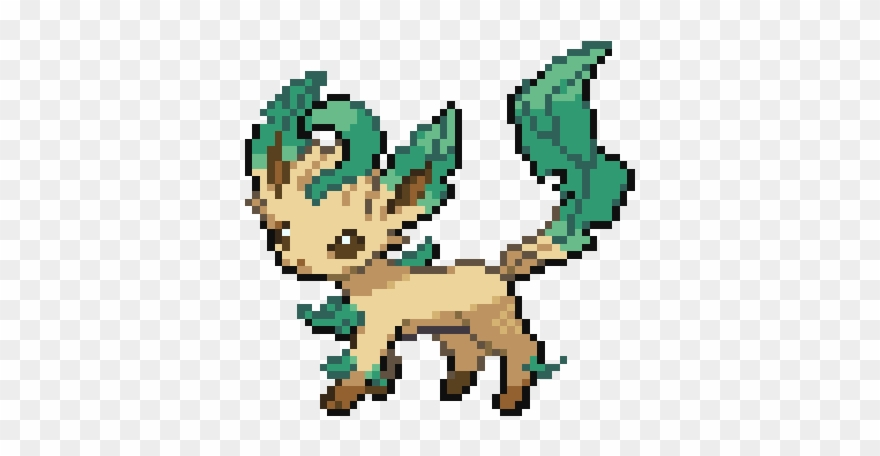 Pokemans 470 Hard Pokemon Pixel Art Clipart 1218280
