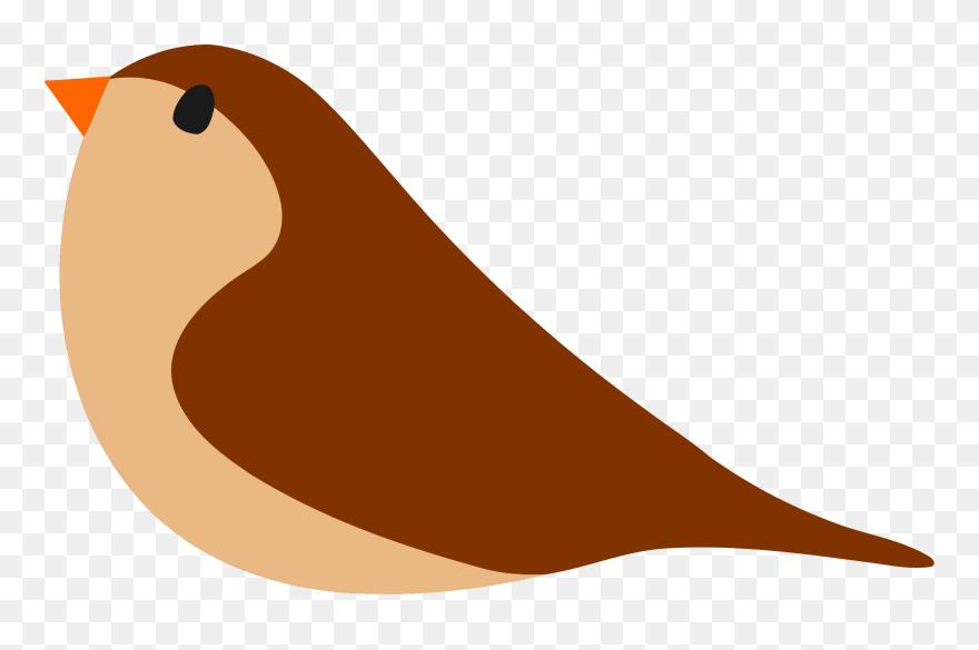 Bird simple. Medium image cartoon clipart