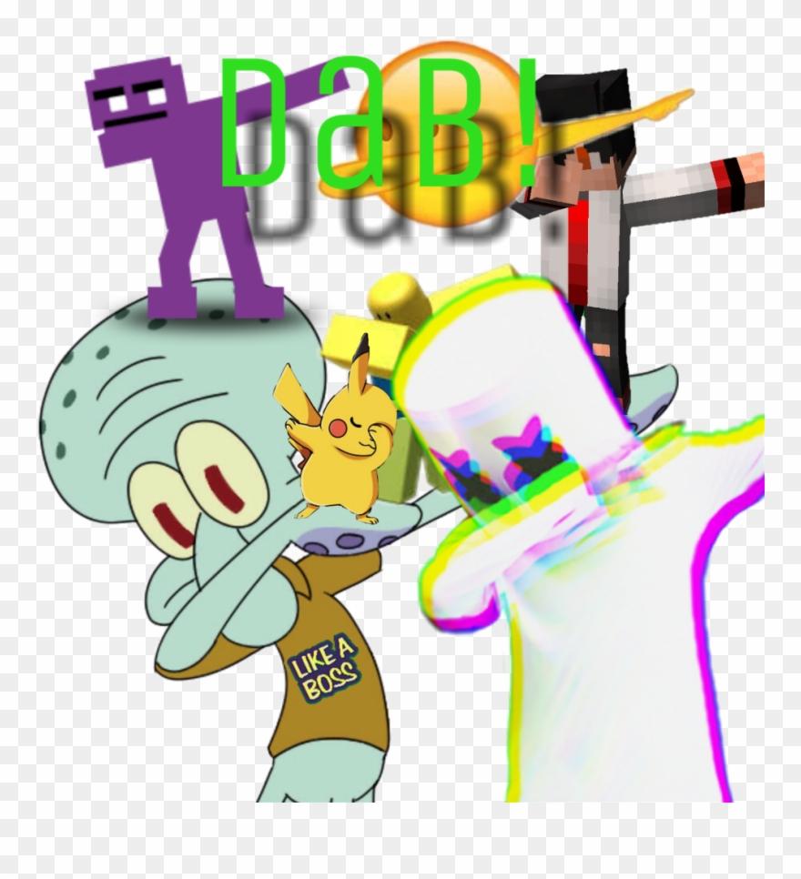 Dab Squidward Marshmello Minecraft Fnaf Purpleguy Polem - Squidward Dab Wallpaper Iphone Clipart