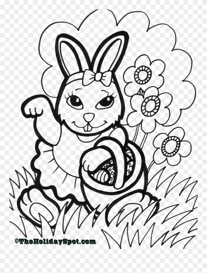Easter coloring page print and color a4 easter pictures to colour clipart