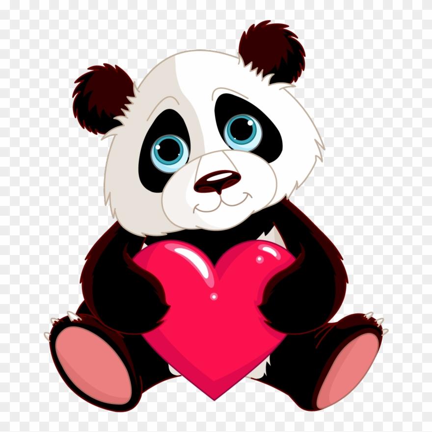 Baby Cute Panda Cartoons Clipart Giant Panda Bear Red Panda Eating Bamboo Sticker Png Download 1228037 Pinclipart
